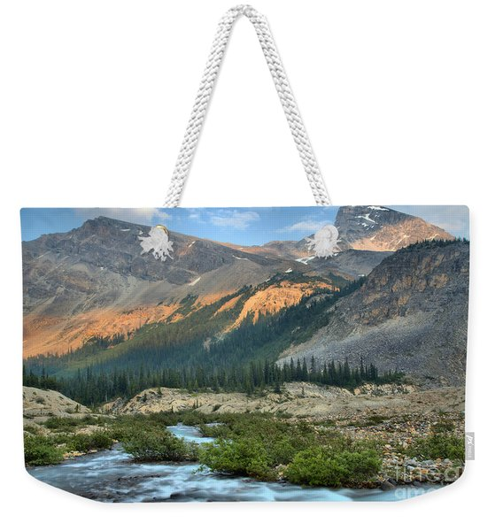 Streaming Down From Bow Glacier Weekender Tote Bag
