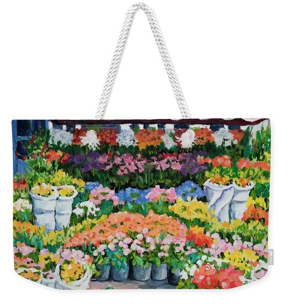 Street Flower Stand Weekender Tote Bag