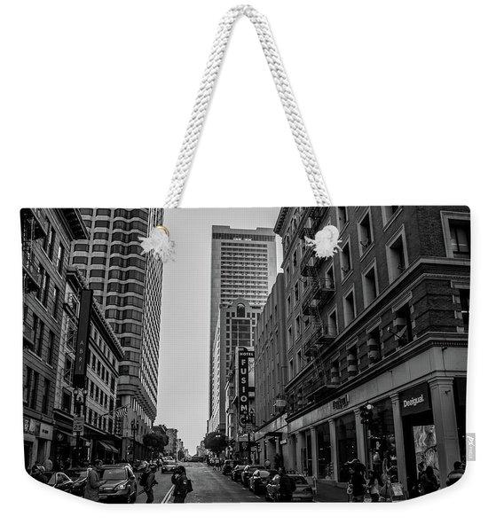 Street Scene, Nyc Weekender Tote Bag