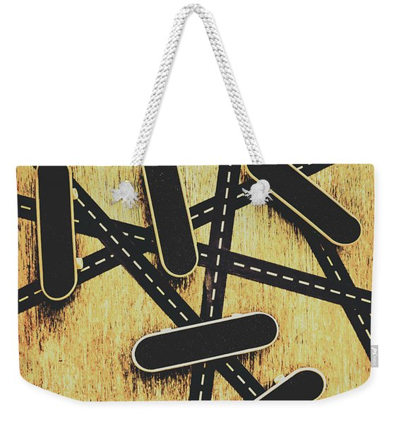Street Skating Background Weekender Tote Bag