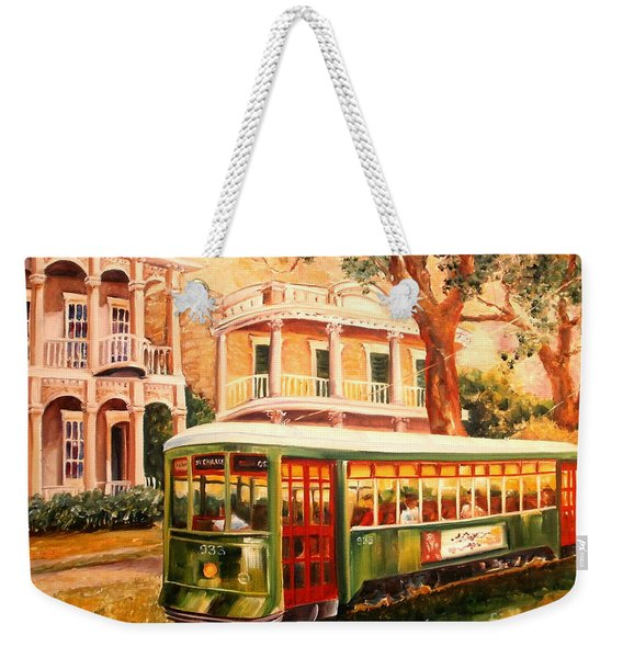 Streetcar In The Garden District Weekender Tote Bag