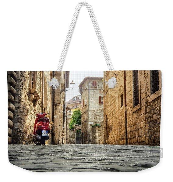Streets Of Italy Weekender Tote Bag