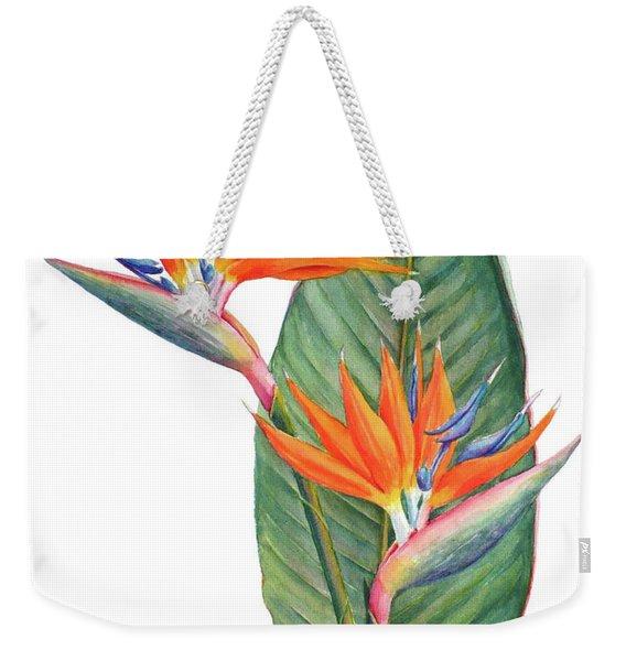 Strelitzia Reginae Bird Of Paradise Weekender Tote Bag