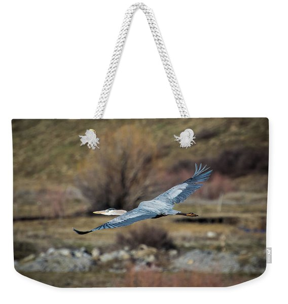 Stretched Wide Open Weekender Tote Bag