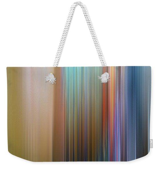 Weekender Tote Bag featuring the digital art Stria Mediterranean by Gina Harrison