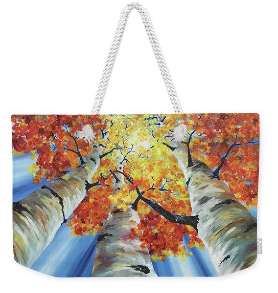 Striking Fall Weekender Tote Bag