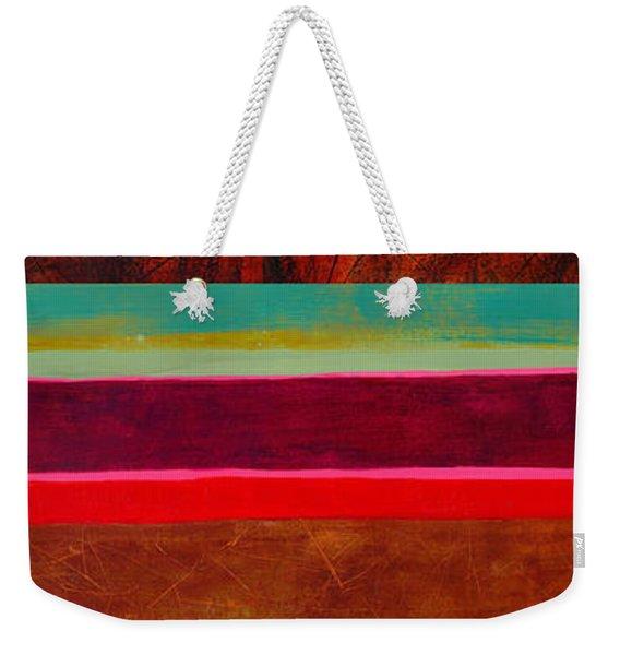 Stripe Assemblage 1 Weekender Tote Bag