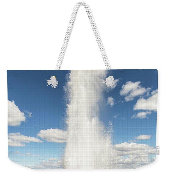 Strokkur Geyser In Iceland Weekender Tote Bag