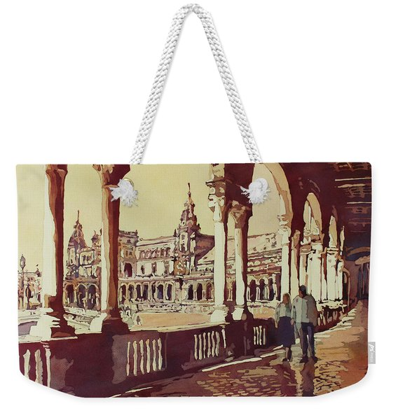 Strolling The 1929 Expo Weekender Tote Bag