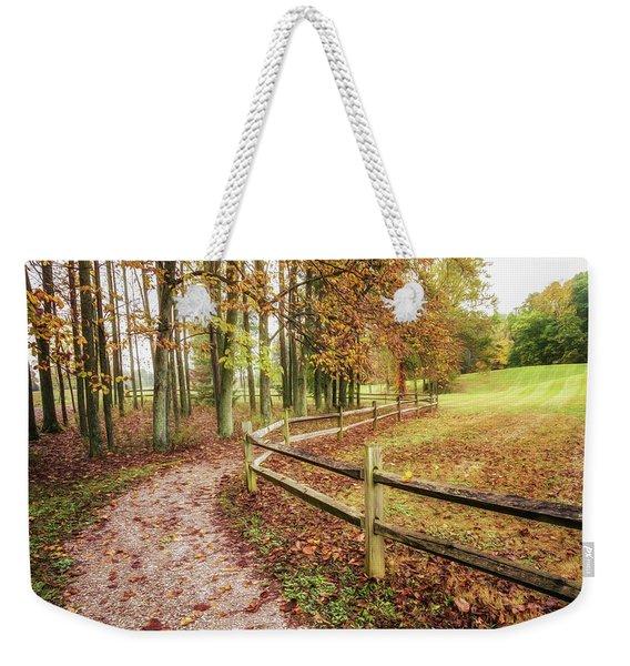 Strolling Through Autumn Weekender Tote Bag