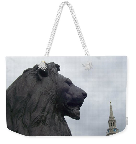 Strong Lion Weekender Tote Bag