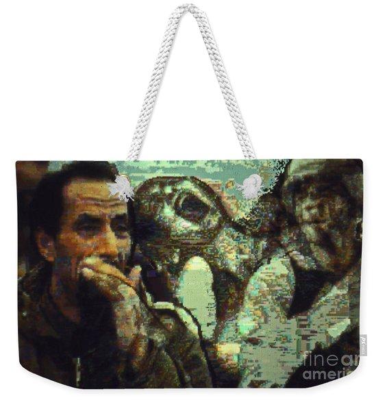 War On Three Weekender Tote Bag