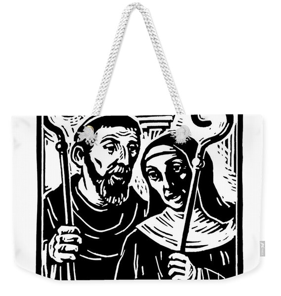 Sts. Benedict And Scholastica - Jlbas Weekender Tote Bag