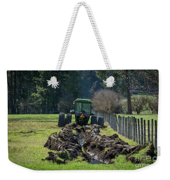 Stuck In The Muck Agriculture Art By Kaylyn Franks Weekender Tote Bag