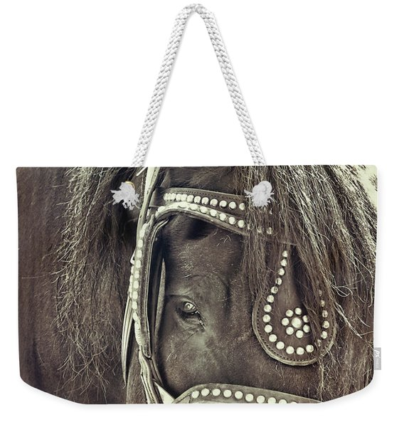 Studded Weekender Tote Bag