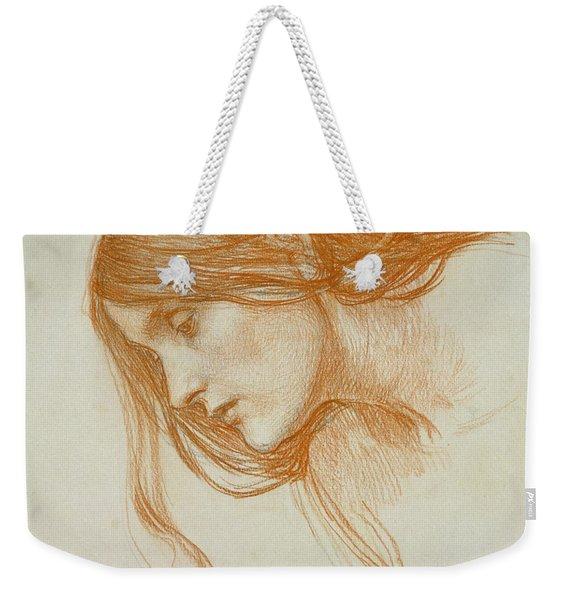Study Of A Girls Head Weekender Tote Bag