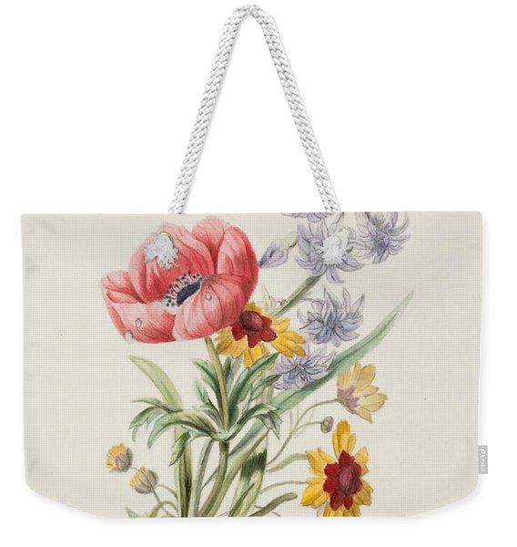 Study Of Wild Flowers Weekender Tote Bag