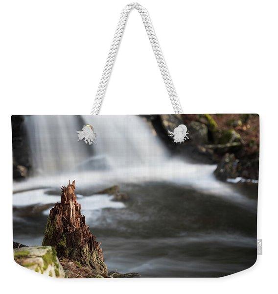 Stumped At The Secret Waterfall Weekender Tote Bag