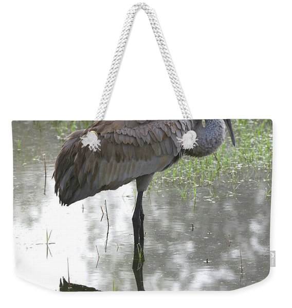 Stunning Sandhill Crane Weekender Tote Bag