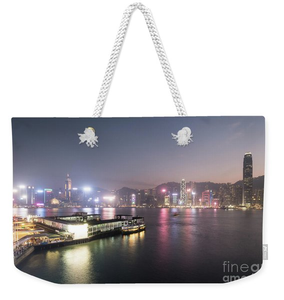 Stunning View Of The Twilight Over The Victoria Harbor And Star  Weekender Tote Bag