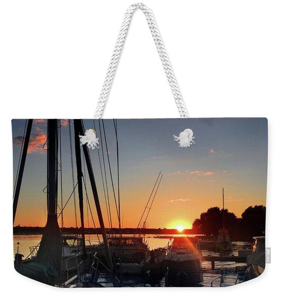 Sturgeon Bay Sunset Weekender Tote Bag