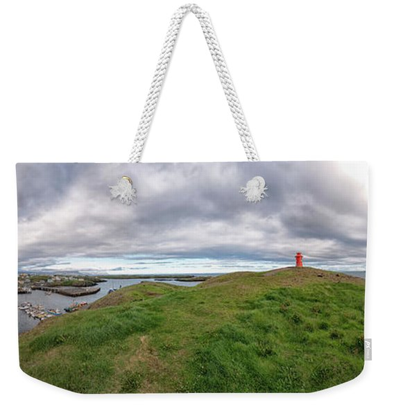 Stykkisholmur Harbor Pano Weekender Tote Bag