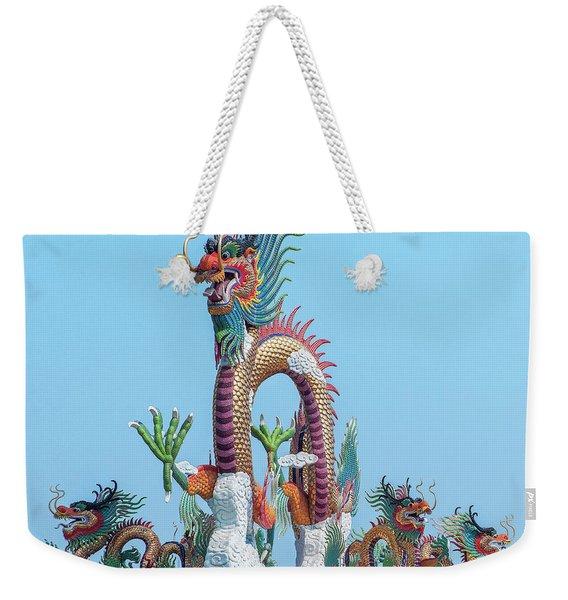 Suan Sawan Golden Dancing Dragon Dthns0144 Weekender Tote Bag