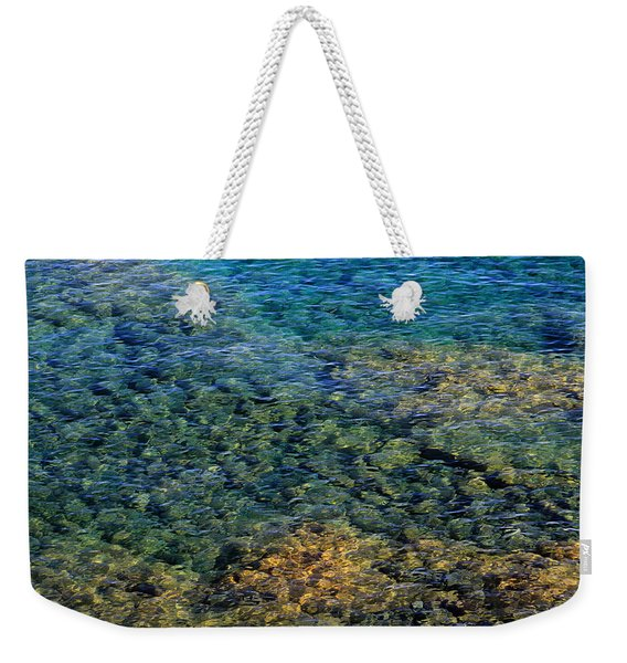 Submerged Rocks At Lake Superior Weekender Tote Bag