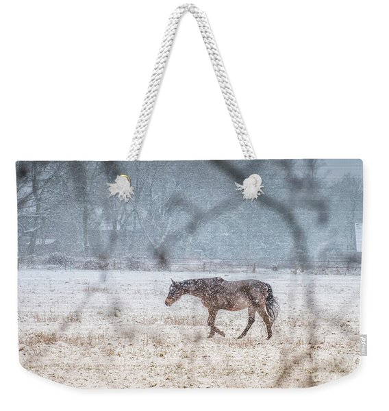 Suburb Of Hamburg.snow Weekender Tote Bag