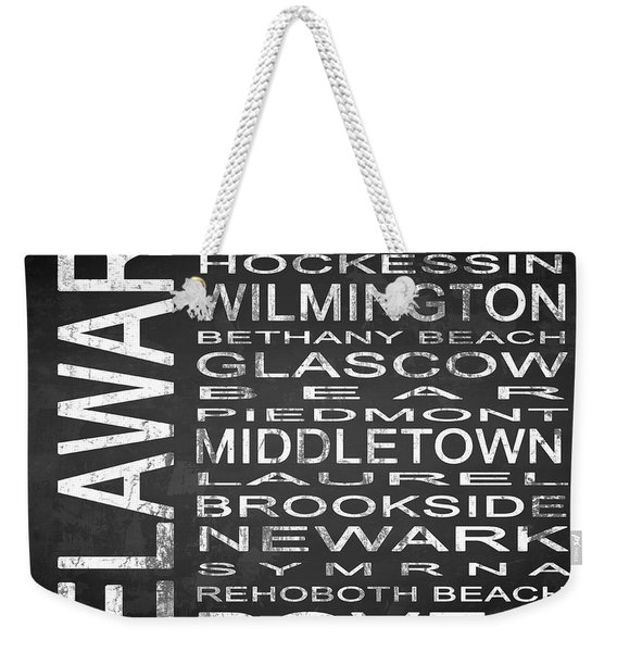 Subway Delaware State Square Weekender Tote Bag