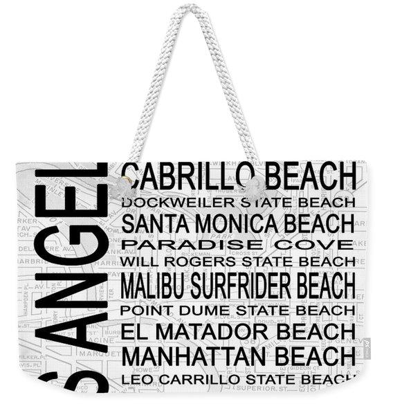 Subway Los Angeles 3 White Weekender Tote Bag