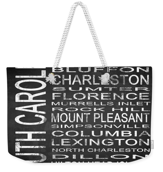 Subway South Carolina State Square Weekender Tote Bag