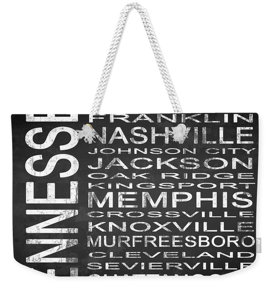 Subway Tennessee State Square Weekender Tote Bag