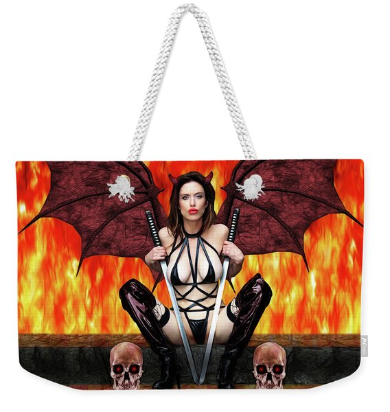 Succubus And Flames Weekender Tote Bag