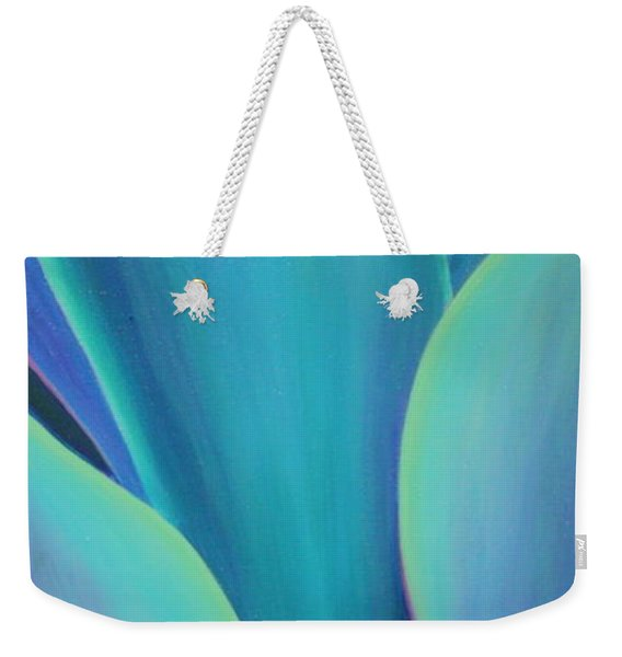 Weekender Tote Bag featuring the painting Succulent Embrace by Sandi Whetzel