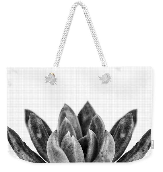 Succulents Flowers Black Weekender Tote Bag