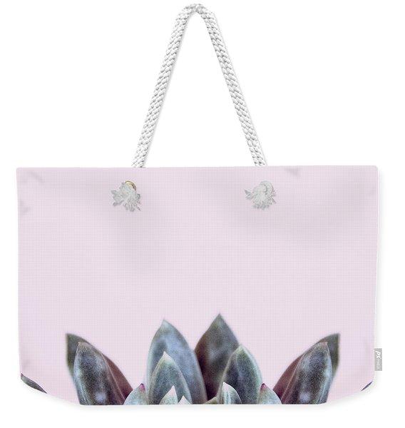 Succulents Flowers Pink Weekender Tote Bag