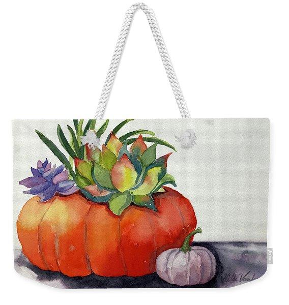 Succulents In Pumpkin Weekender Tote Bag
