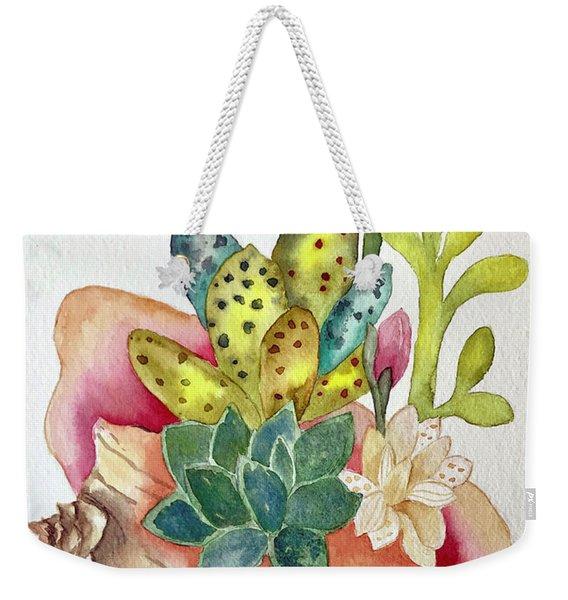 Succulents In Shell Weekender Tote Bag