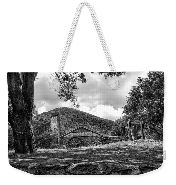 Sugar Plantation Ruins Bw Weekender Tote Bag