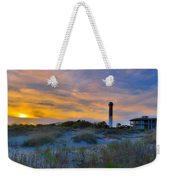 Sullivan's Island Lighthouse At Dusk - Sullivan's Island Sc Weekender Tote Bag