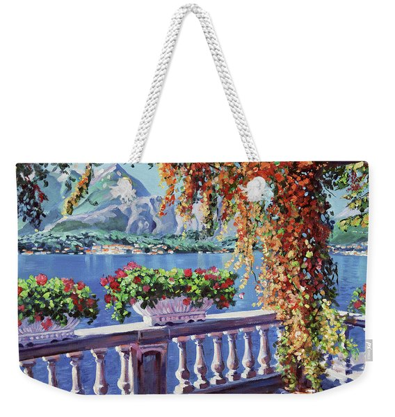 Summer At Lake Como Weekender Tote Bag