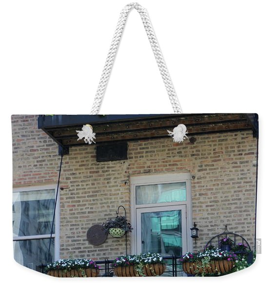 Summer Balconies In Chicago Illinois Weekender Tote Bag