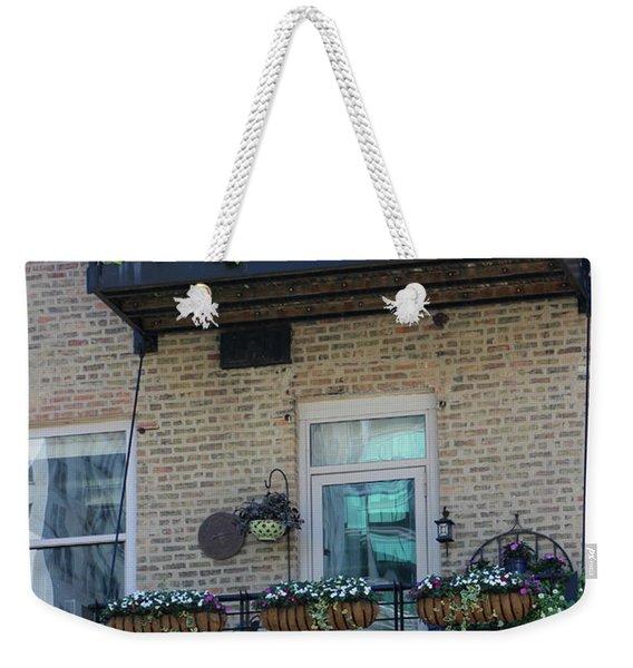 Summer Balconies In Chicago Illinois Weekender Tote Bag