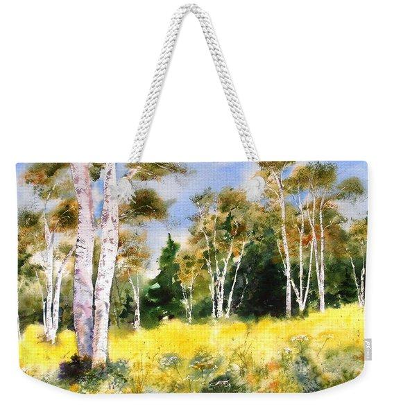 Summer Birches Weekender Tote Bag
