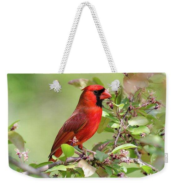 Summer Cardinal Weekender Tote Bag