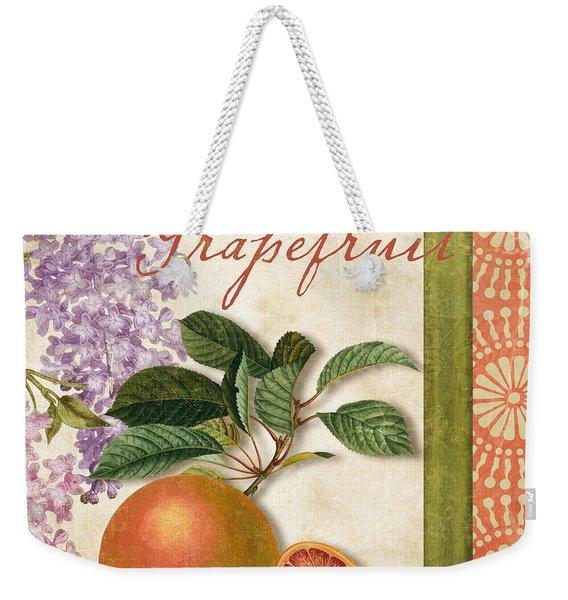 Summer Citrus Grapefruit Weekender Tote Bag