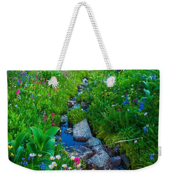 Summer Creek Weekender Tote Bag