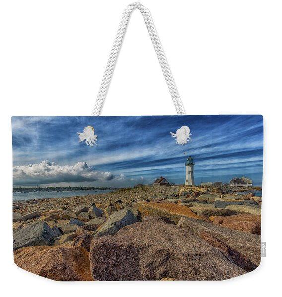 Summer Day At Scituate Lighthouse Weekender Tote Bag