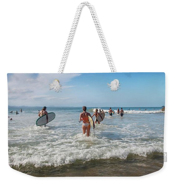 Summer Days Byron Waves Weekender Tote Bag
